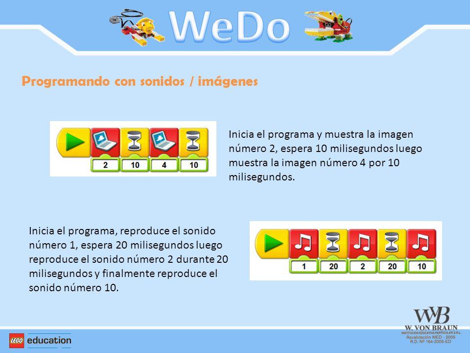 WeDo Programando con sonidos / imágenes