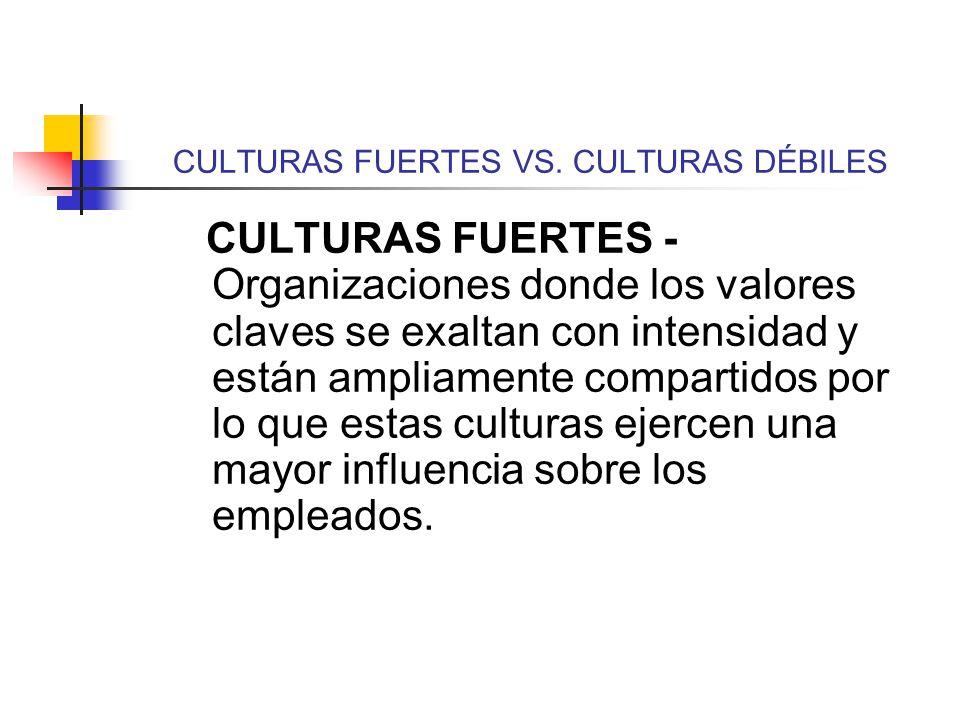 CULTURAS FUERTES VS. CULTURAS DÉBILES