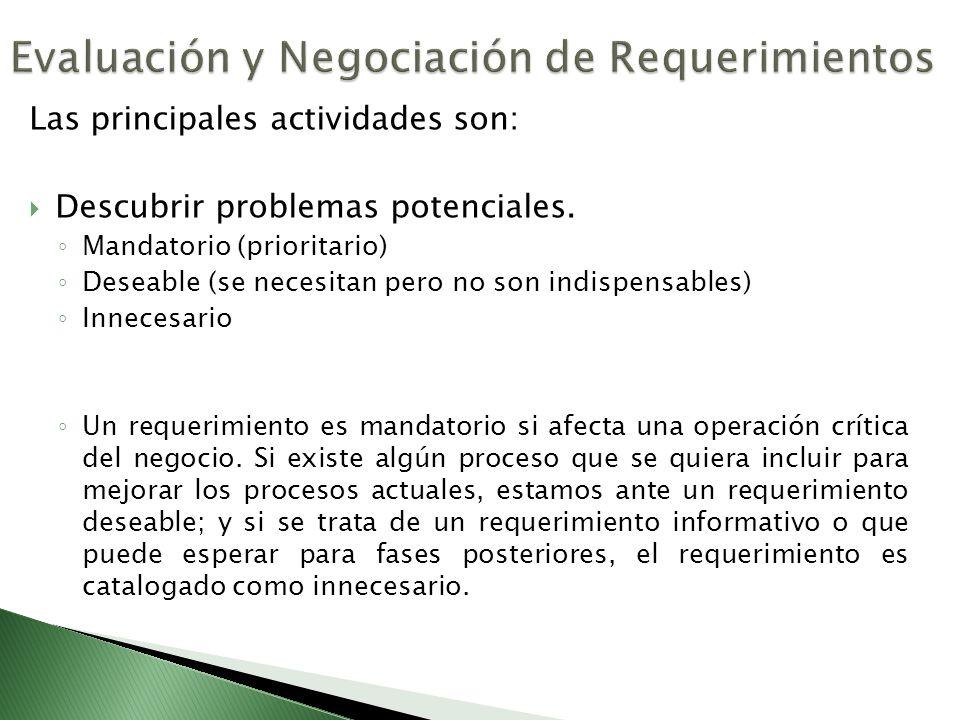 Evaluación y Negociación de Requerimientos