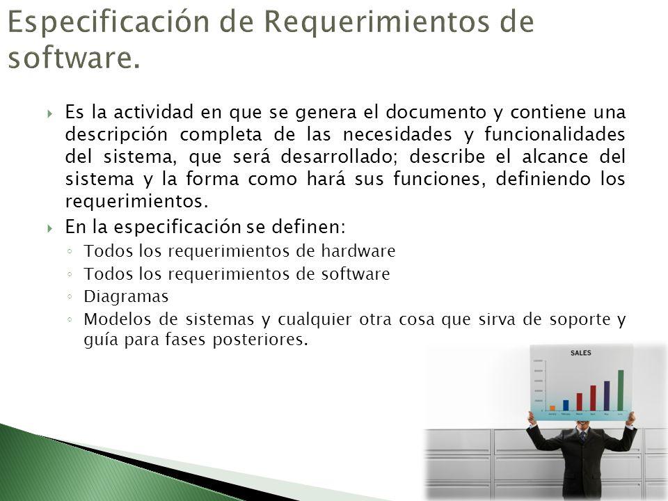 Especificación de Requerimientos de software.