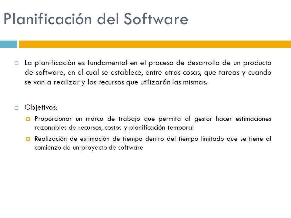 Planificación del Software