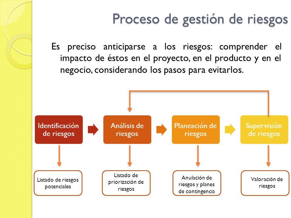 Proceso de gestión de riesgos