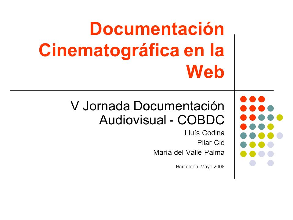Documentación Cinematográfica en la Web