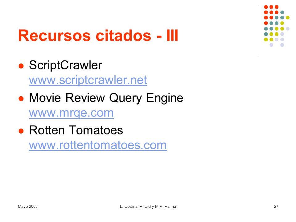 Recursos citados - III ScriptCrawler www.scriptcrawler.net
