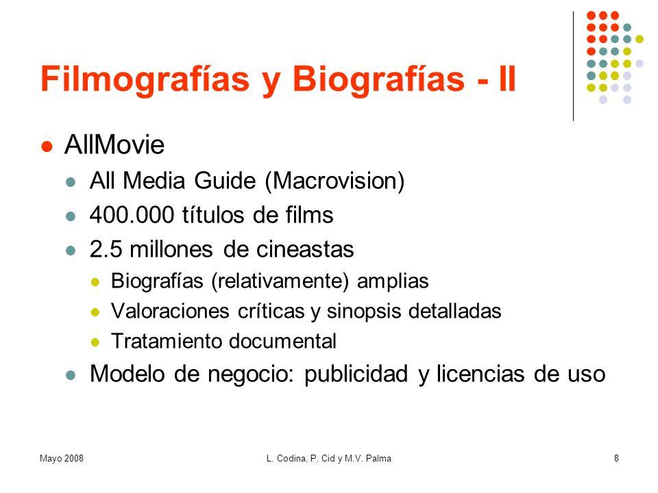 Filmografías y Biografías - II