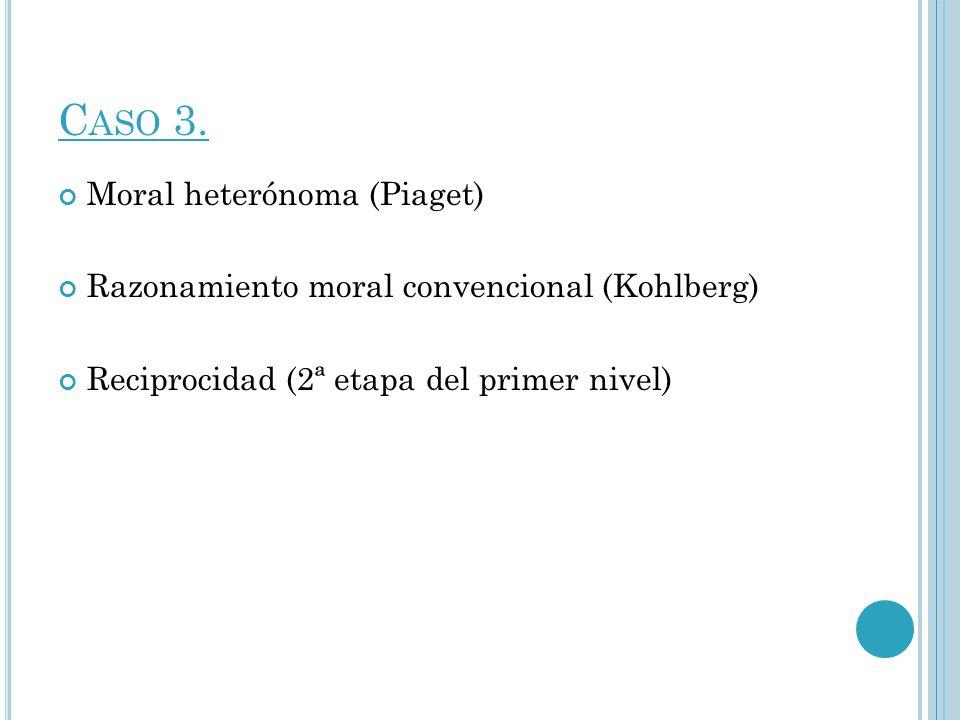 Caso 3. Moral heterónoma (Piaget)