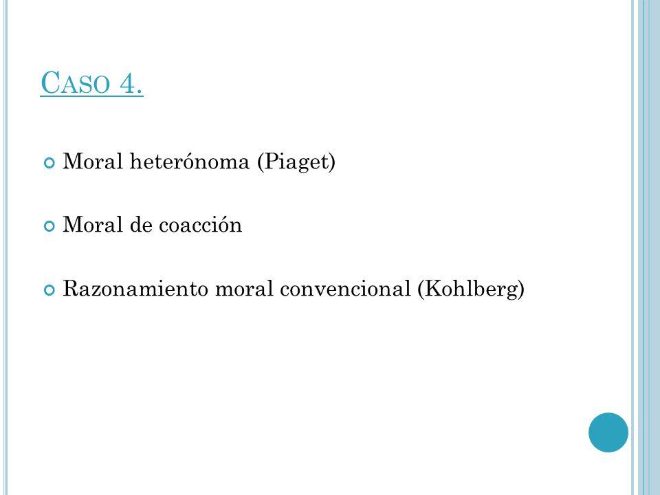 Caso 4. Moral heterónoma (Piaget) Moral de coacción