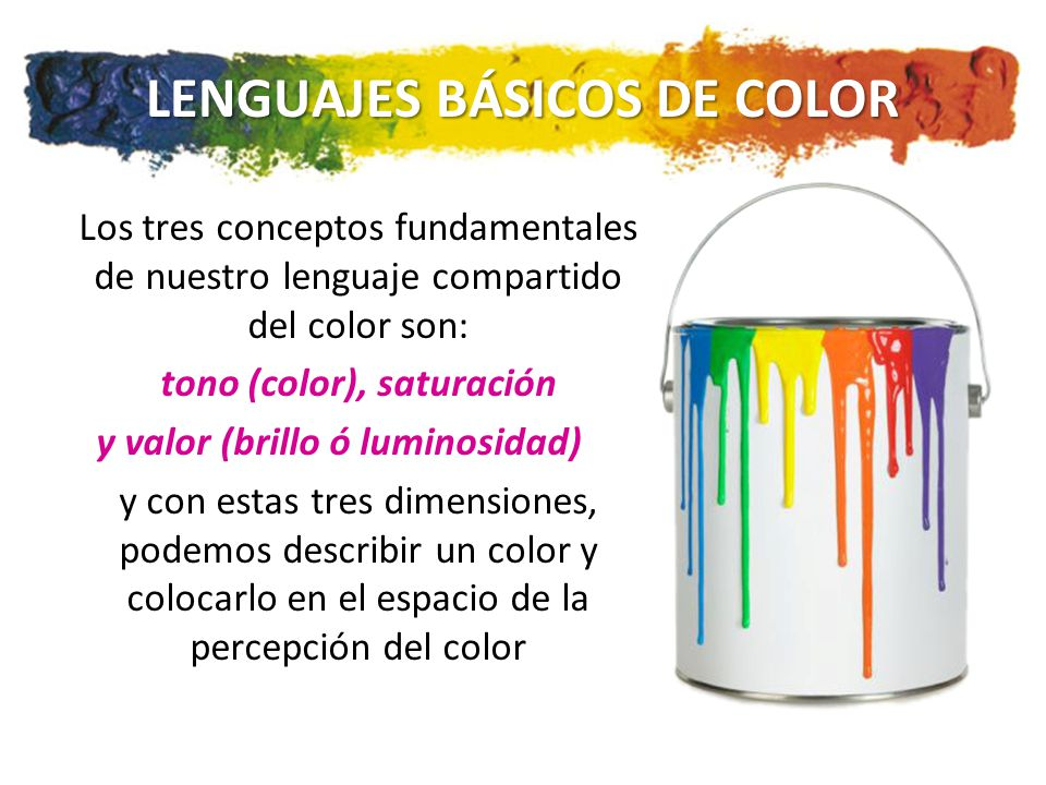 LENGUAJES BÁSICOS DE COLOR