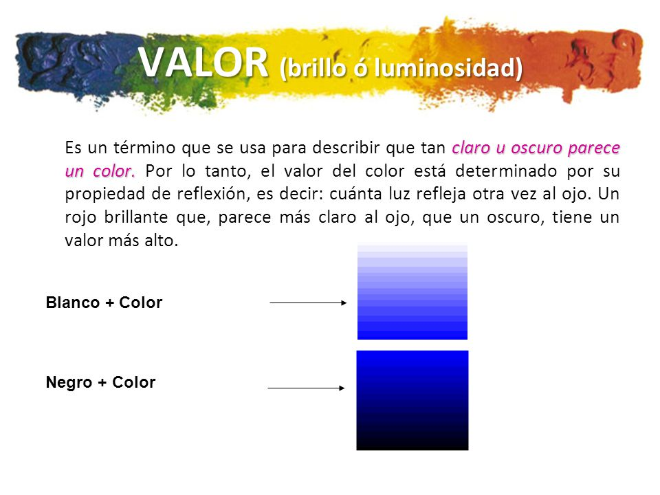 VALOR (brillo ó luminosidad)