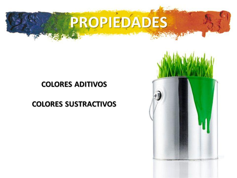 PROPIEDADES COLORES ADITIVOS COLORES SUSTRACTIVOS