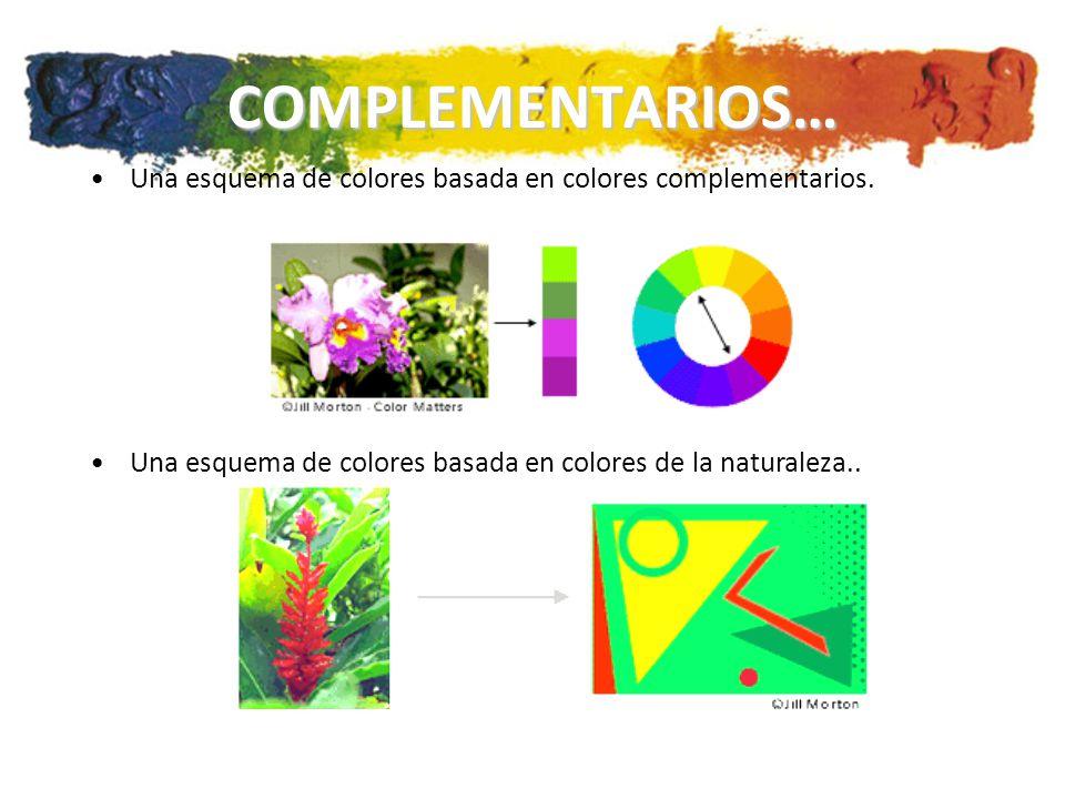 COMPLEMENTARIOS… Una esquema de colores basada en colores complementarios.