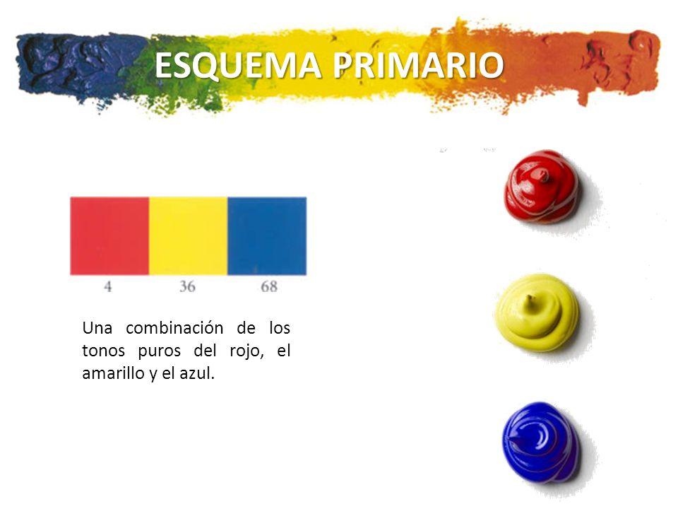 ESQUEMA PRIMARIO Una combinación de los tonos puros del rojo, el amarillo y el azul.