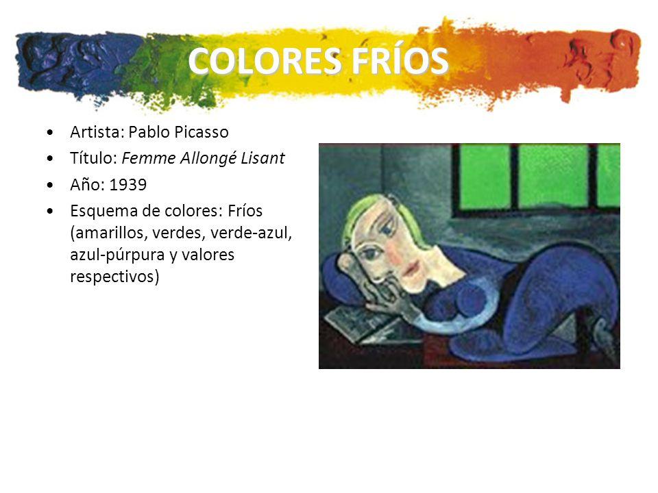 COLORES FRÍOS Artista: Pablo Picasso Título: Femme Allongé Lisant