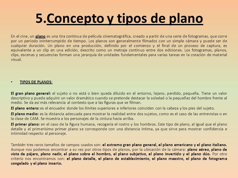 5.Concepto y tipos de plano