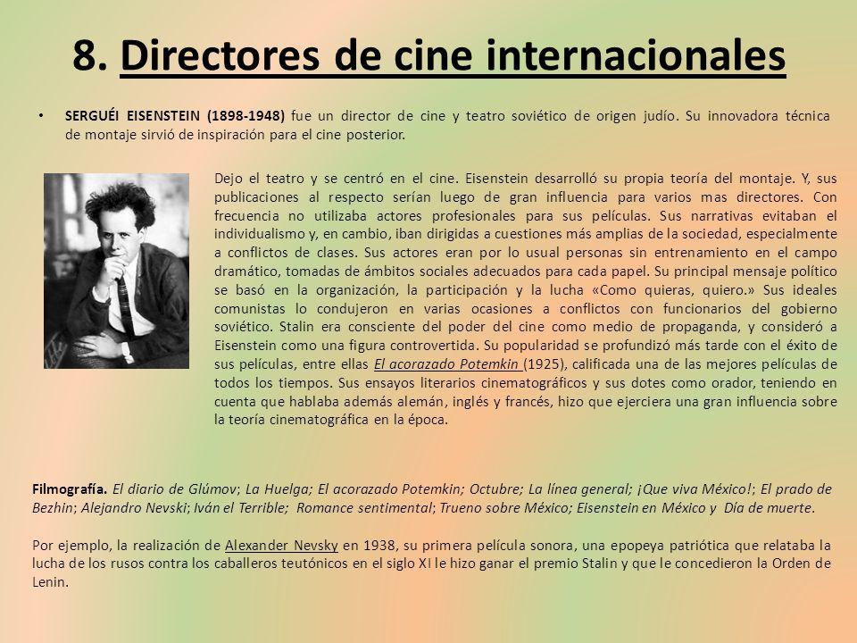 8. Directores de cine internacionales