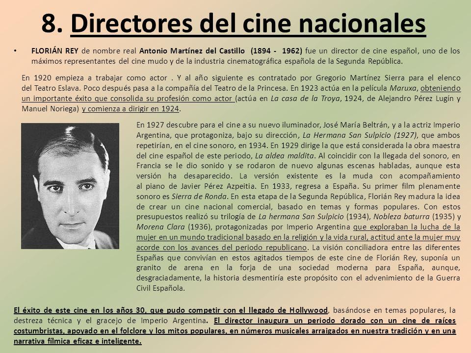 8. Directores del cine nacionales
