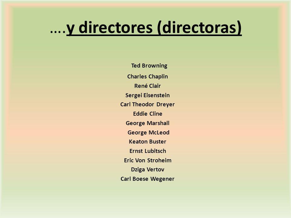 ….y directores (directoras)