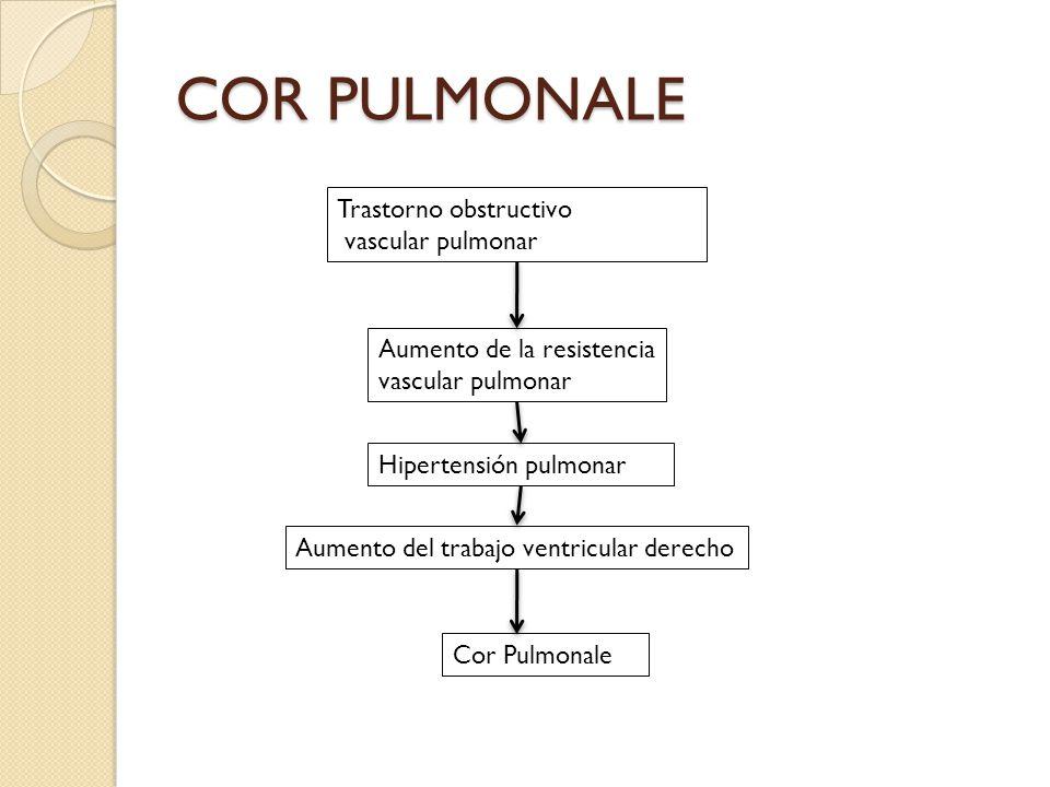 COR PULMONALE Trastorno obstructivo vascular pulmonar