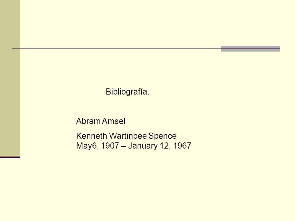 Bibliografía. Abram Amsel.