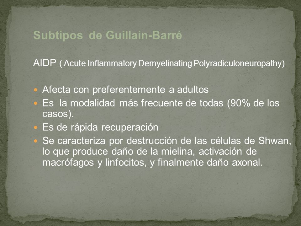Subtipos de Guillain-Barré