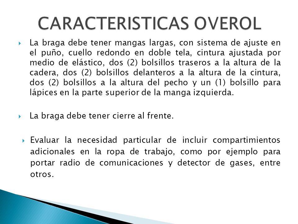 CARACTERISTICAS OVEROL