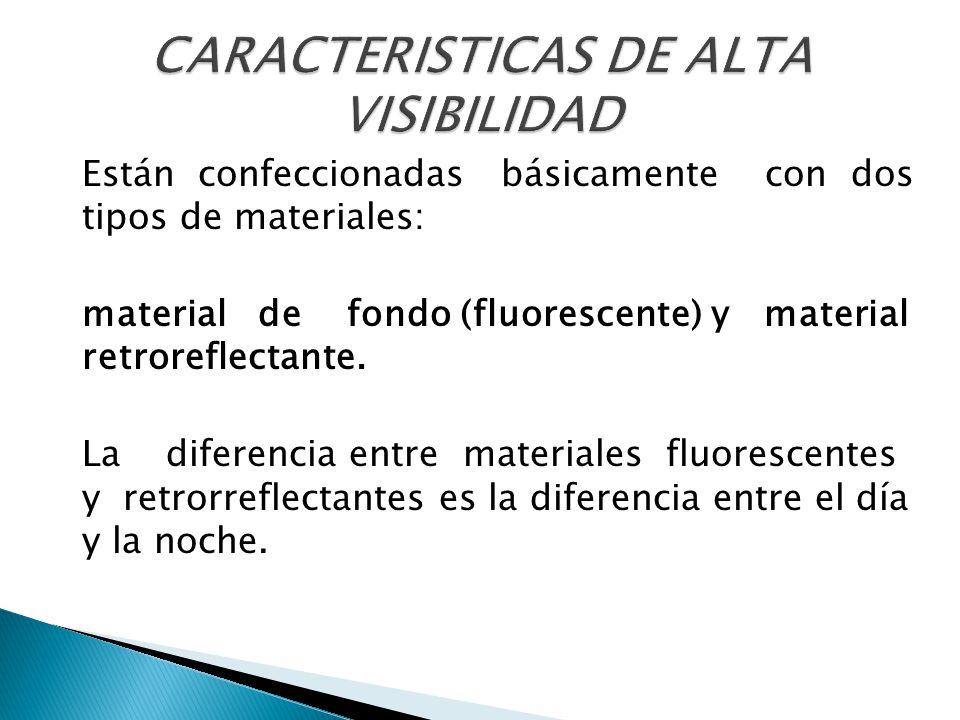 CARACTERISTICAS DE ALTA VISIBILIDAD