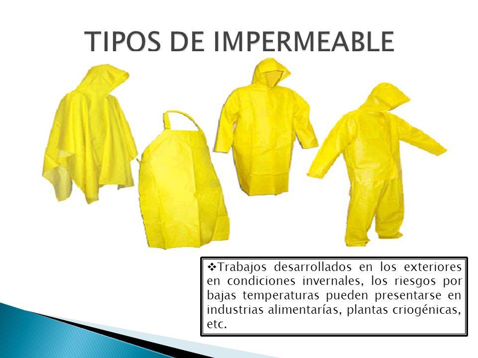 TIPOS DE IMPERMEABLE