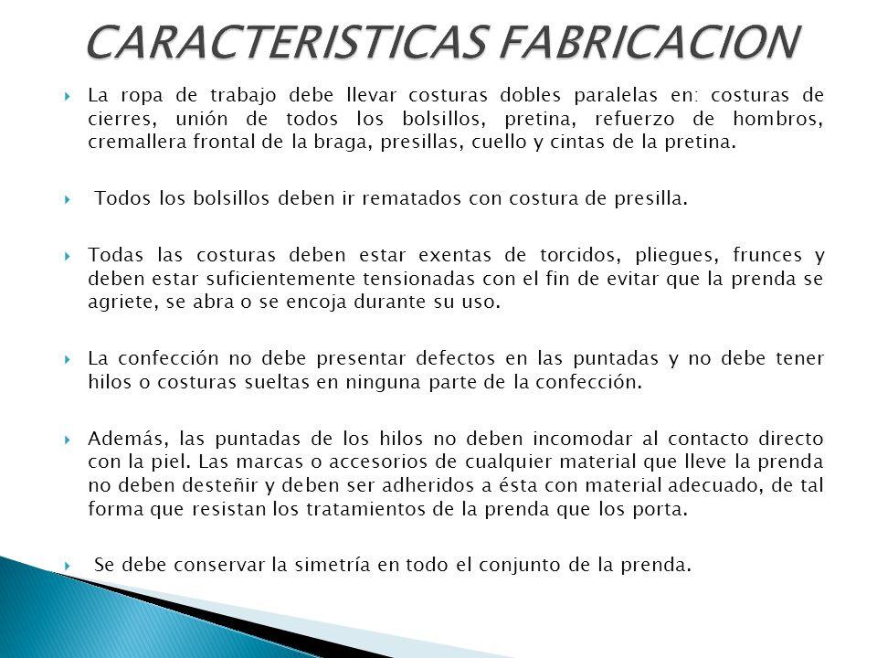 CARACTERISTICAS FABRICACION
