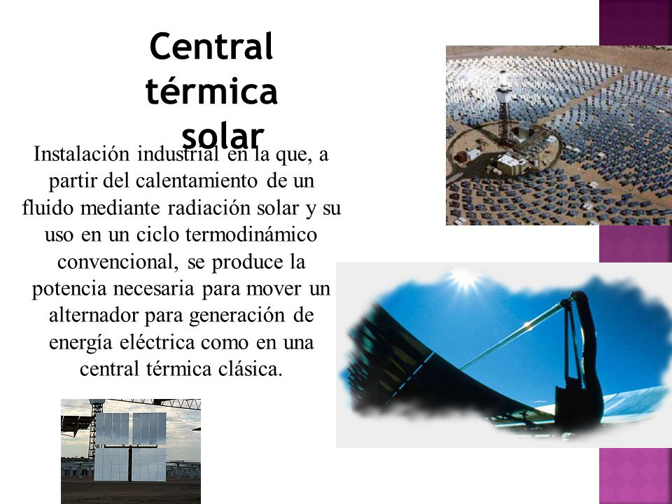 Central térmica solar.