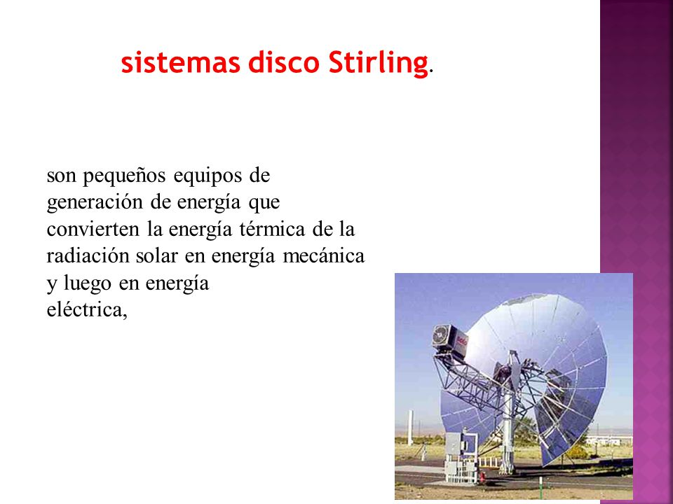 sistemas disco Stirling.
