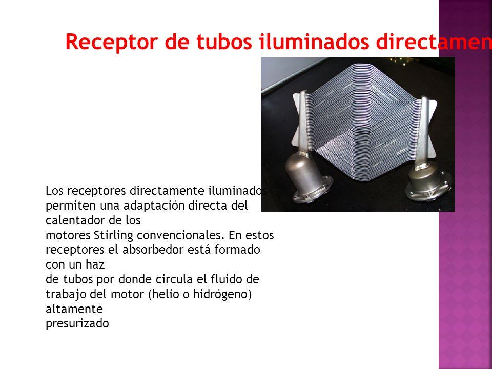Receptor de tubos iluminados directamente