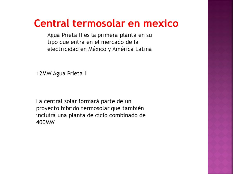 Central termosolar en mexico