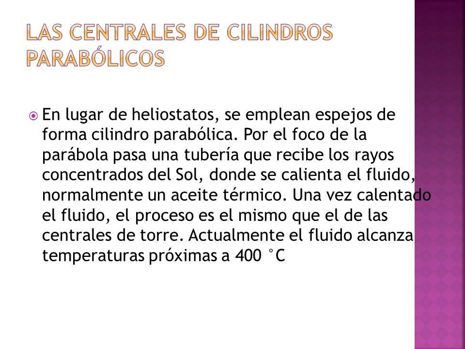 LAS CENTRALES DE CILINDROS PARABÓLICOS