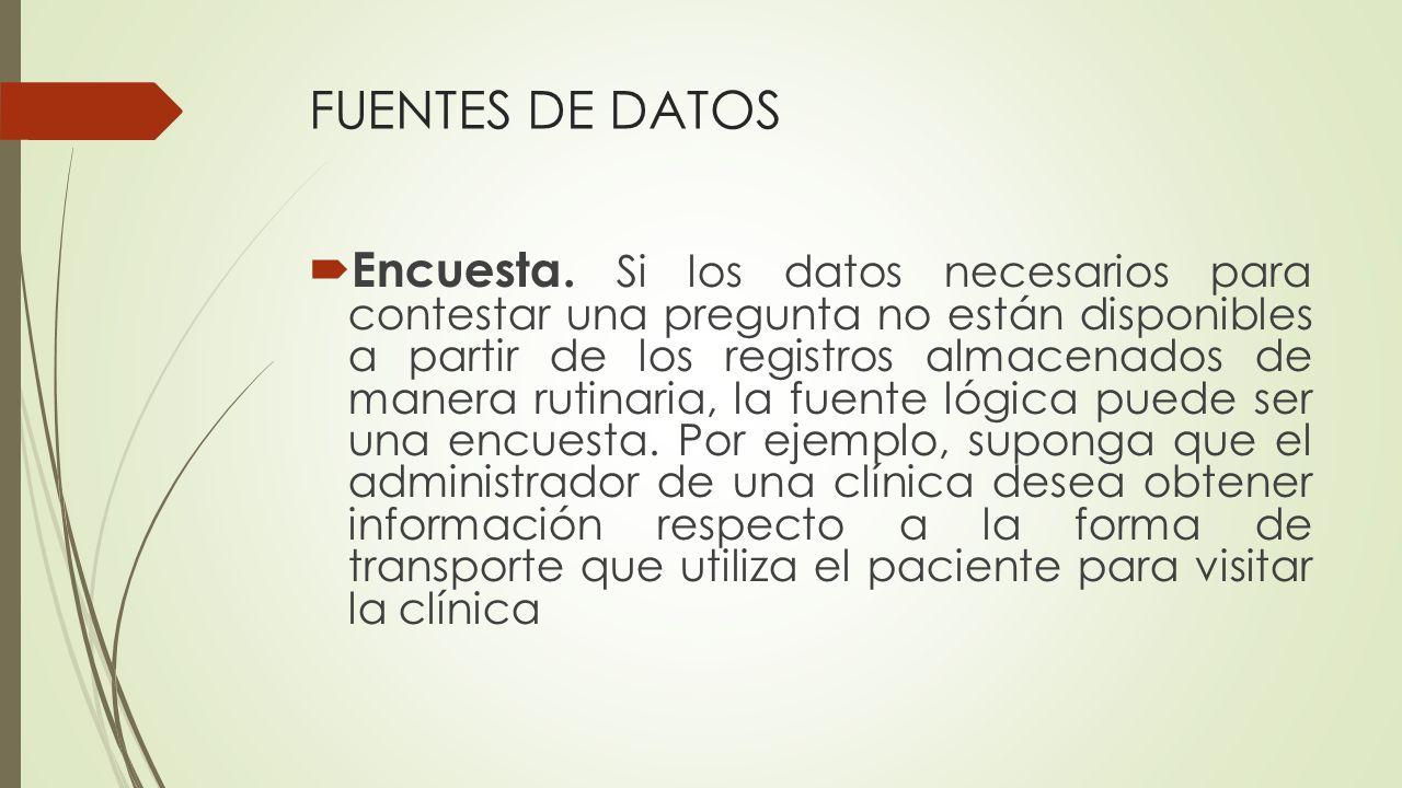 FUENTES DE DATOS