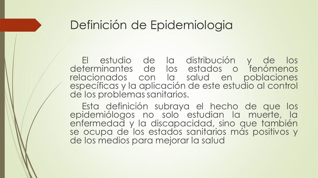 Definición de Epidemiologia