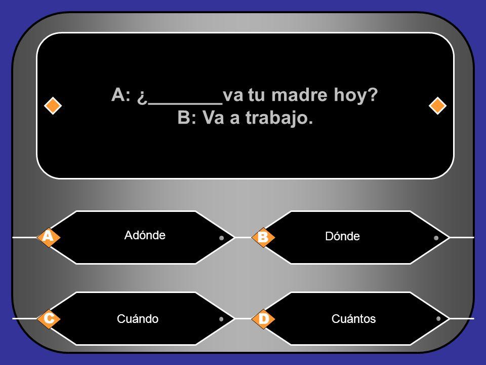 A: ¿_______va tu madre hoy