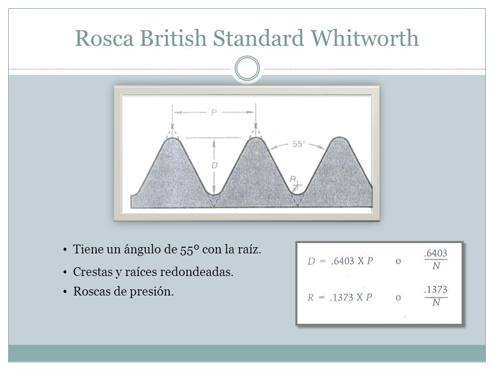 Rosca British Standard Whitworth