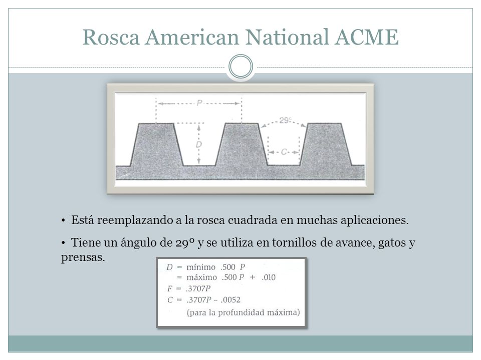 Rosca American National ACME