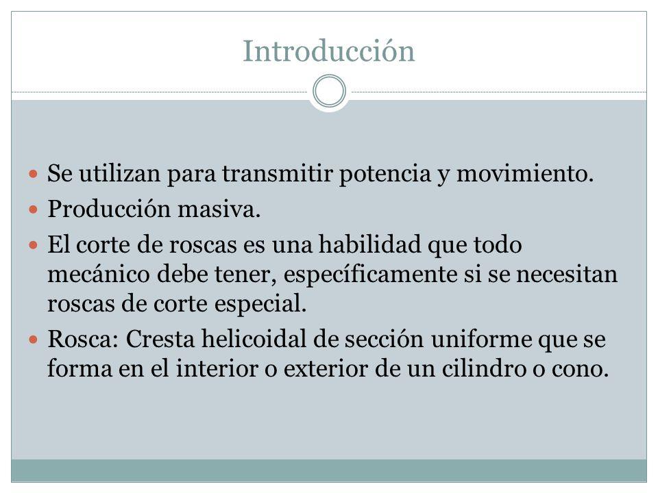 Introducción Se utilizan para transmitir potencia y movimiento.
