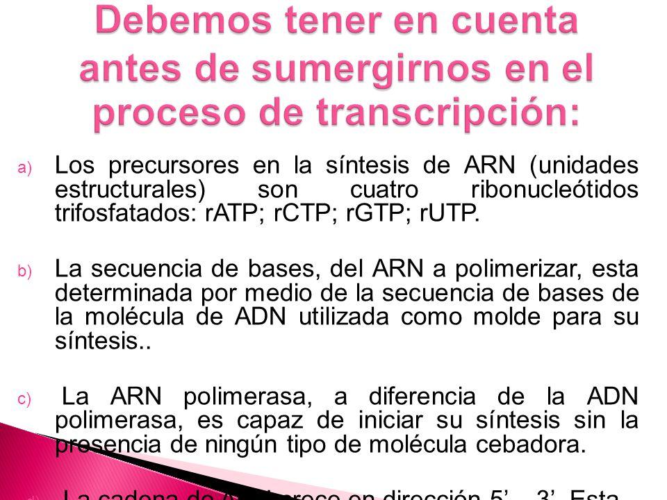 Debemos tener en cuenta antes de sumergirnos en el proceso de transcripción: