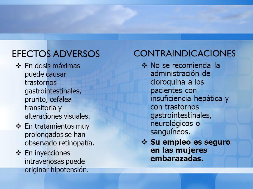 EFECTOS ADVERSOS CONTRAINDICACIONES