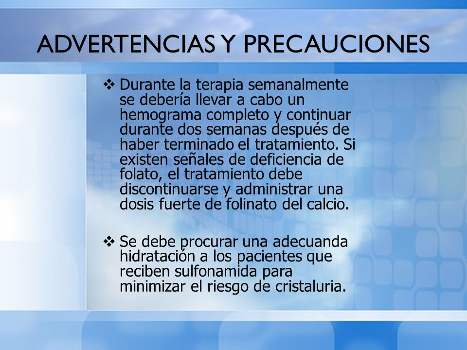 ADVERTENCIAS Y PRECAUCIONES