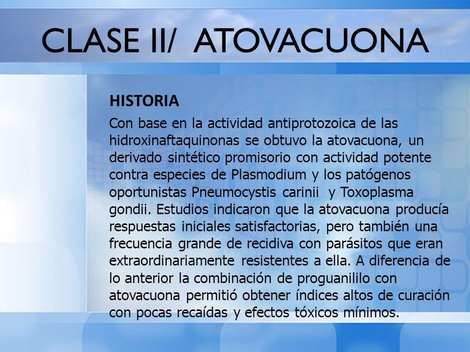 CLASE II/ ATOVACUONA HISTORIA