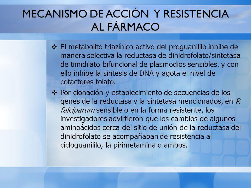 MECANISMO DE ACCIÓN Y RESISTENCIA AL FÁRMACO