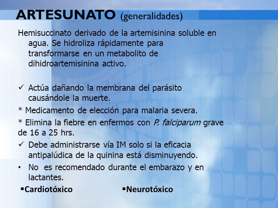 ARTESUNATO (generalidades)