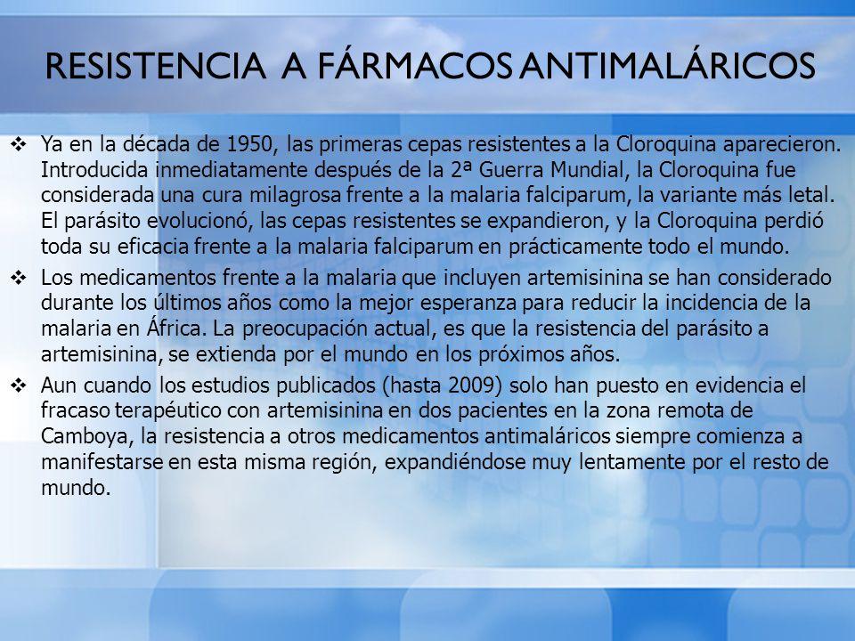 RESISTENCIA A FÁRMACOS ANTIMALÁRICOS