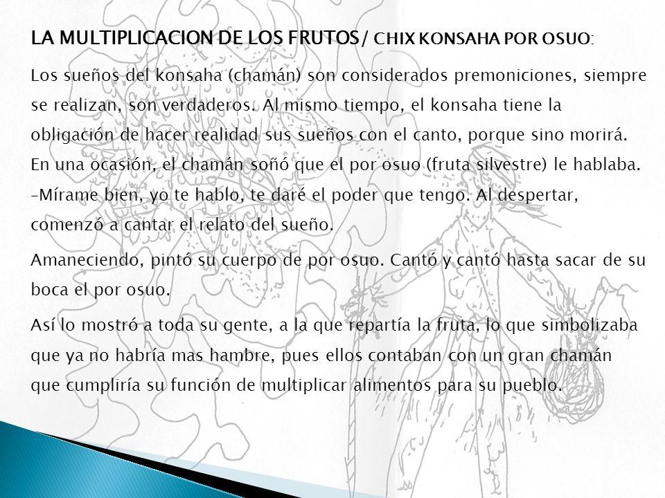 LA MULTIPLICACION DE LOS FRUTOS/ CHIX KONSAHA POR OSUO: