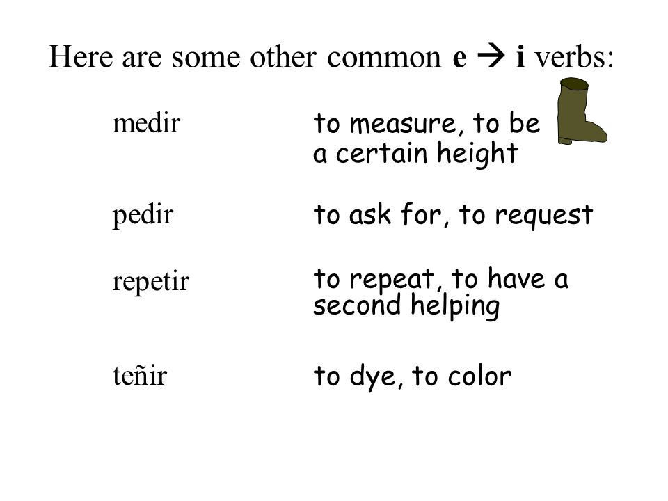 Here are some other common e  i verbs: