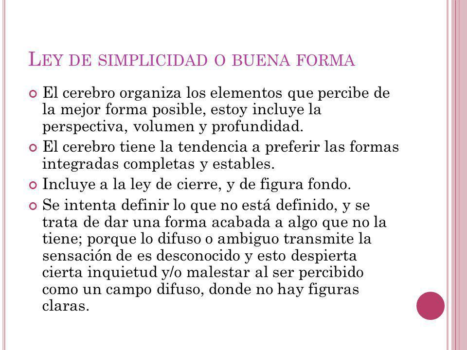 Ley de simplicidad o buena forma