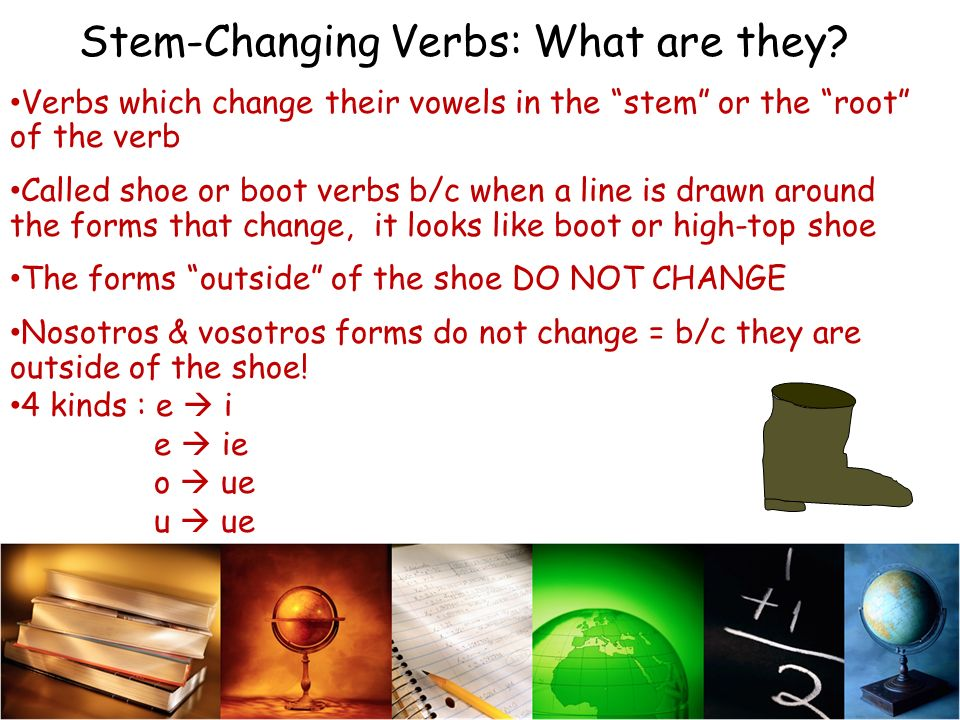 Stem-Changing Verbs: What are they